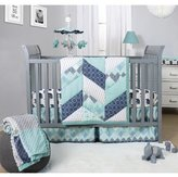 The Peanut Shell Mosaic 3 Piece Crib Bedding Set