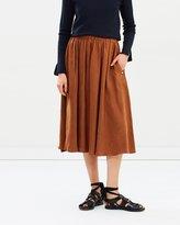 Maison Scotch Cupro Skirt
