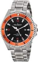 Peugeot Men's 1031OR Analog Display Japanese Quartz Silver Watch