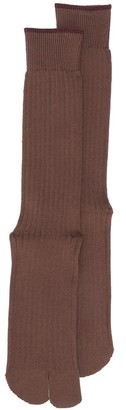 Maison Margiela Tabi ribbed socks
