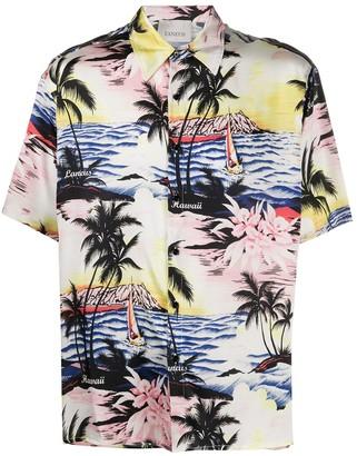 Laneus printed Hawaii shirt