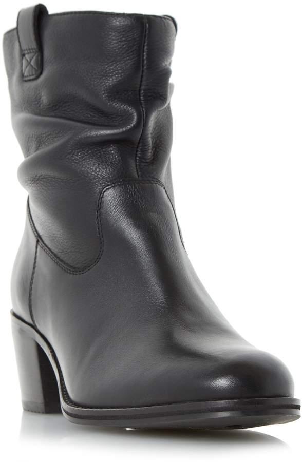 Roberto Vianni POLITT - Ruched Detail Block Heel Ankle Boot