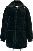 Sacai velvet padded coat - men - Cotton/Feather Down/Acrylic/Alpaca - III