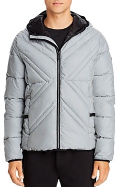 Karl Lagerfeld Paris X-Quilted Packable Puffer Jacket