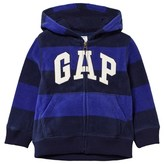 Gap Blue Stripe Pro Fleece Hoodie