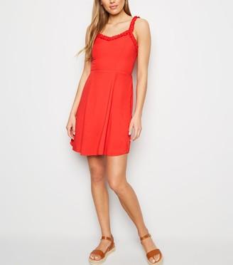 New Look Frill Trim Mini Dress