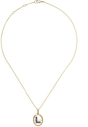 Annoushka 18kt yellow gold diamond initial L necklace