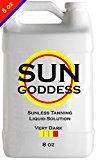 Sun Goddess - VERY DARK - 8 oz - Sunless Self Tanning Liquid Solution for Airbrush Spray Tan HVLP Airbrush Spray Tan Machine - Best Sunless Tan Self Tanning Liquid Spray Tan Solution, Mousse, Lotion