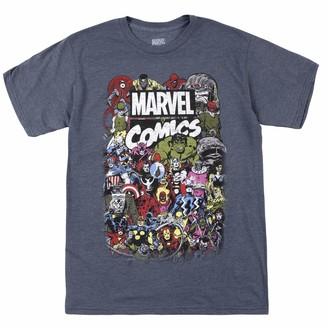 Marvel Young Mens Comics Crew T-Shirt Shirt