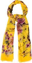 Dolce & Gabbana Floral Print Silk Shawl