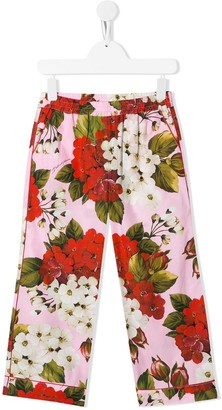 Dolce & Gabbana Floral-Print Pyjama Style Trousers