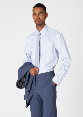 Paul Smith Men's Classic-Fit Blue Pinstripe Cotton Shirt With 'Artist Stripe' Cuff Linings