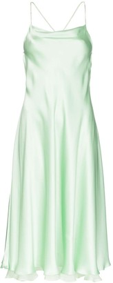 ANOUKI Open-Back Silk Dress