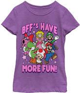 Fifth Sun Purple Super Mario 'BFF's Have More Fun' Tee - Girls