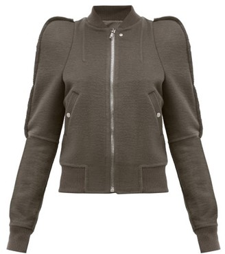Rick Owens Zionic Puff-shoulder Cashmere Bomber Jacket - Womens - Grey