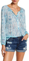 Lucky Brand Paisley Peasant Blouse