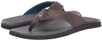 OluKai Alania (Mustang/Dark Wood) Men's Sandals