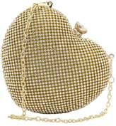 Micom Heart-shaped Full Rhinestones Evening Handbags Party Clutches