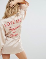 Missguided Love Me Forever Or Never Robe