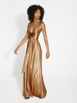 Halston Textured Metallic Jersey Gown
