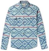 Faherty Belmar Printed Brushed Cotton-Jacquard Shirt