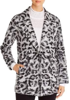 Nic+Zoe Leopard-Print Faux-Fur Coat