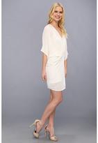 ABS by Allen Schwartz Sequin V-Neck Shirred Tulip Dress
