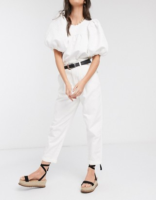 New Look ovoid shape pants in stone