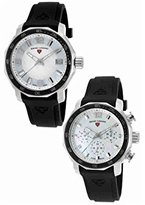 Swiss Legend Quartz Stainless Steel and Silicone Casual Watch, Color:Black (Model: SL16191SM16192SM02BK)