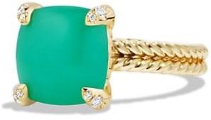 David Yurman Chatelaine Ring with Gemstone and Diamonds in 18K Gold