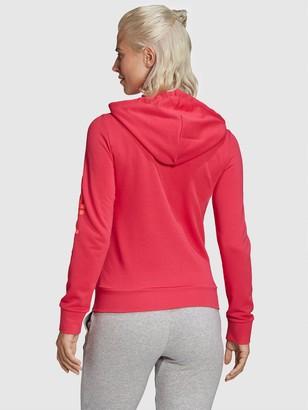 adidas Essentials Linear Full Zip Hoodie - Pink