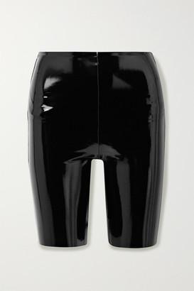 Commando Stretch Faux Patent-leather Shorts - Black