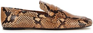Joseph Bakhta Snake-effect Leather Loafers