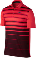 Nike Men's Mobility Fade Striped Golf Polo