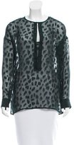 Derek Lam 10 Crosby Silk Oversize Top