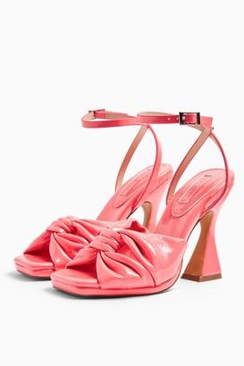 Topshop RAFI Pink Twist Flare Heels
