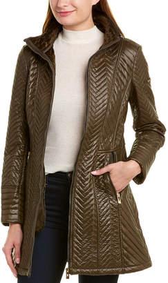 Via Spiga Quilted Long Coat
