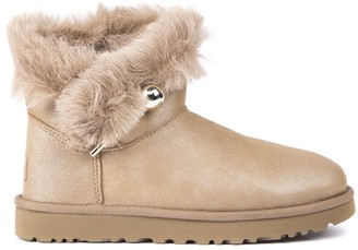 UGG Classic Fluff Sheep Leather Ankle Boots