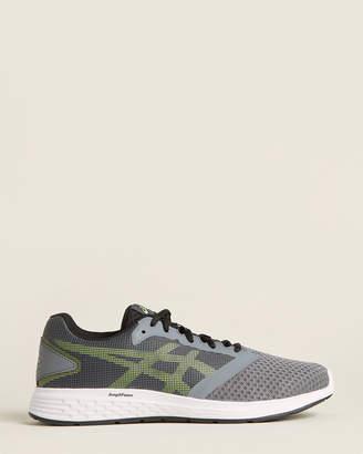 Asics Steel Grey & Hazard Green Patriot 10 Running Sneakers