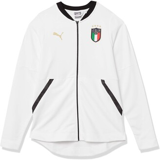 Puma Women's FIGC Casuals Jacket White Team Gold XS