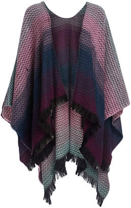 Softer Than Cashmere Women's Ponchos - Purple & Pink Ombre Ruana - Women