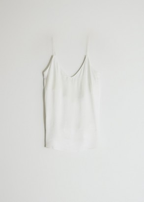 MONICA Stelen Women's Lace Back Camisole Top in White, Size Small