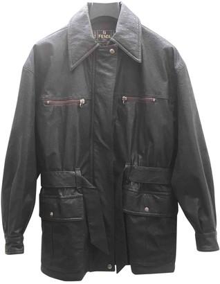 Fendi Brown Leather Coats