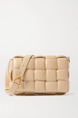 Bottega Veneta Cassette Padded Intrecciato Leather Shoulder Bag - Beige