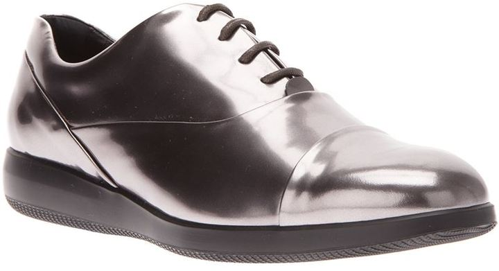 Hogan metallic lace-up shoe