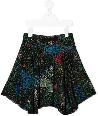 Zadig & Voltaire Kids Flared Mini Skirt