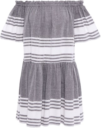 SUNDRESS Belted Embroidered Gauze Coverup