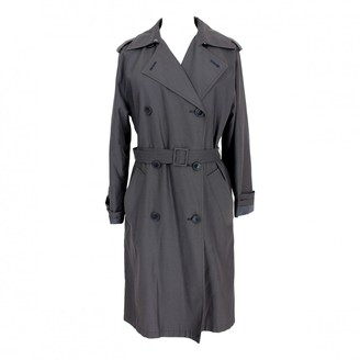 Max Mara Weekend Blue Cotton Trench Coat for Women Vintage