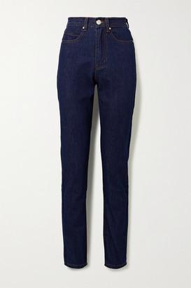 L.F. Markey Johnny High-rise Straight-leg Jeans - Dark denim