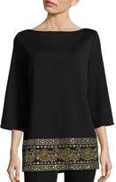 St. John Embellished Milano Knit Tunic